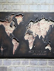 Wall Decor Metal Retro Wall World Map
