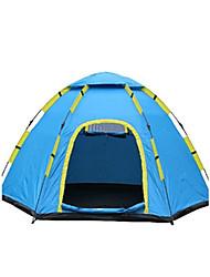 3-4 человека Световой тент Один экземляр Семейные палатки Однокомнатная Палатка ПолиэстерВодонепроницаемый Воздухопроницаемость