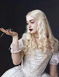Bleichmittel blonde Welle Perücke hitzebeständige cosplay movice weiße Königin halloween natürliche Kostüm Partei Perücke