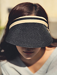 Women's Fashion Straw Floppy Hat Straw Hat Sun Hat Beach Cap Empty Top Hat Bowknot Casual Holiday Summer