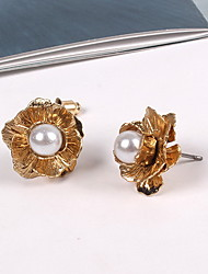 Stud Earrings Imitation Pearl Pearl Imitation Pearl Alloy Gold Jewelry Party Daily Casual 1 pair