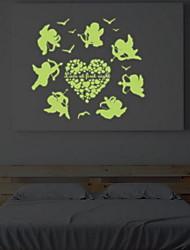 Cartoon Love Cupid Luminous Wall Stickers Vinyl Material Home Decoration