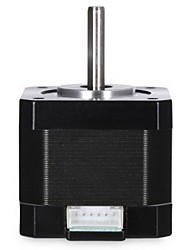 Linear Screw 2 Phase 42 Stepper 1.8 Degree Motor - BLACK