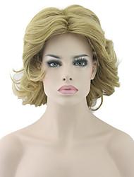 cheveux vague bob bouclés couleur blonde vague résistant à la chaleur naturelle perruques perruques synthétiques