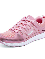 Femme-Extérieure Décontracté Sport-Noir Gris Jaune Rouge Rose-Talon Plat-Confort Semelles Légères couple Chaussures-Chaussures