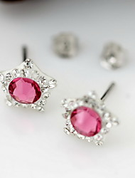 Stud Earrings Crystal Luxury Crystal Zircon Cubic Zirconia Imitation Diamond Austria Crystal Jewelry For Daily Casual