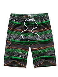 Hommes Grandes Tailles Ample Joggings Short Pantalon,simple Bohème Actif Décontracté / Quotidien Plage Sportif Rayé Imprimé Mosaïque