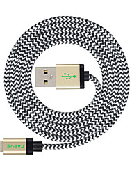 MFI 3 m (10 pies) de cable trenzado rayo de sincronización y carga USB para el iphone Apple 7 6s 6 Plus SE 5s 5c 5 plus / ipad air / Mini iPad