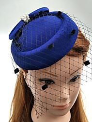 Perle Tissu Filet Casque-Mariage Occasion spéciale Coiffure Chapeau Voile de cage à oiseaux 1 Pièce