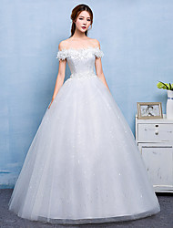 Ball Gown Wedding Dress - Chic & Modern Simply Sublime Floor-length Bateau Lace Satin Tulle with Lace