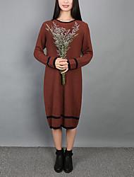 Spot neuen Pullover weiblichen Herbst und Winter langen Abschnitt der großen Frauen&# 39; s Kaschmir-Pullover dicken Sicherungs