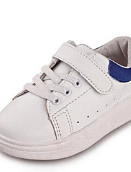 Girl's Flats Comfort PU Outdoor Athletic Casual White Running