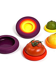 4pcs Silicone Food Huggers Four Sizes Caps Keep Fruit Fresh Food Storge Food Saver Kitchen Cuddlers Random Color
