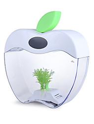 Mini Aquariums Background Apple Shape Ornament With Switch(es) Artificial White USB