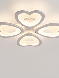 4 Heads Heart shaped Design Modern Style Simplicity LED Ceiling Lamp Metal Flush Mount Living Room Bedroom light Fixture