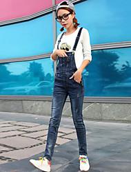 registe macacão jeans pés fêmeas magros era calças lápis estiramento fina estudantes universitários siameses