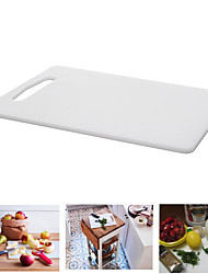 Prevent Moldy Plastic Chopping Board White Rectangular Cutting Board Polyethylene Plastic 34X24X0.8CM