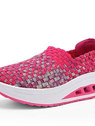 Feminino-Mocassins e Slip-Ons-Conforto-Creepers-Cinzento Fúcsia Rosa claro Azul Claro-Sintético-Ar-Livre Casual Para Esporte