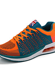 Men's Sneakers Fashion Casual Sports Shoes Microfibre Outdoor Athletic Flying Woven Air Cushion Lace-up  Sports Shoes