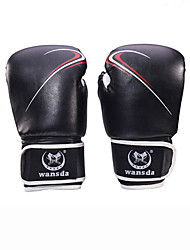 Boxing Gloves Full-finger Gloves Unisex Breathable Wearproof Tactical Protective Boxing PU Red Black