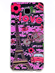 For Samsung Galaxy A3(2017) A5(2017) Eiffel Tower Pattern Soft TPU Material Phone Case A7(2017) A510 A310
