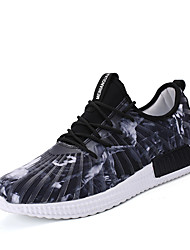 Men's Sneakers Yeeze shoes Spring Fall Winter Comfort Patent Leather Outdoor Office & Career Casual Flat Heel Black/Grey/Red