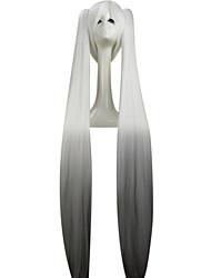 Mode weiße Perücke Vocaloid Sakura Miku lang ponytails 120cm