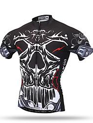 XINTOWN® Team Men's Bicycle Clothing Cycling Jerseys Biking Short Sleeve Shirts Dark Skull