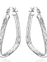 Drop Earrings Hoop Earrings Jewelry Copper Silver Plated Fashion Silver Jewelry Daily Casual 1 pair