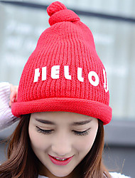 Autumn Winter Letters Printed Knitting Ski Newsboy Vintage Casual Hat