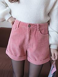 unterzeichnen Kord Shorts koreanische beiläufige Hosen fallen und Winterkleidung dicke Stiefel, Hosen Campus Stil Schuluniformen
