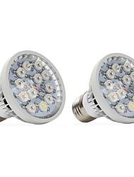 12W E14 GU10 E27 Lampes Horticoles LED 12 LED Haute Puissance 290-330 lm Blanc Chaud Rouge Bleu UV (Lumière Noire) V 2 pièces