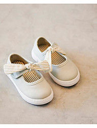 Girl's Flats Comfort Canvas Outdoor Casual White Running