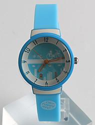 Relógio de Moda Quartzo / Silicone Banda Casual Azul Azul