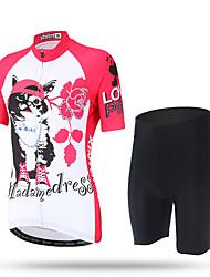 XINTOWN Camisa com Shorts para Ciclismo Mulheres Manga Curta Moto Calças Camisa/Roupas Para Esporte Shorts BlusasSecagem Rápida