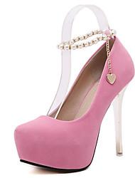 Damen-High Heels-Kleid-Vlies-StöckelabsatzSchwarz Rosa