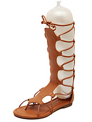 Sandals Summer Gladiator PU Casual Flat Heel Lace-up