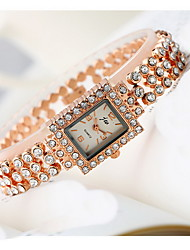 Women's Fashion Watch Quartz Imitation Diamond Alloy Band Cool Casual Rose Gold
