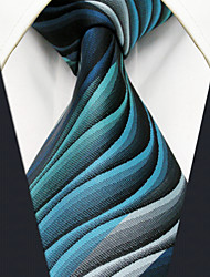 YXL23  Mens Ties Green Multicolor Ripple 100% Silk Business Fashion For Men