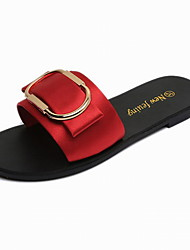 Women's Flats Summer Light Soles PU Office & Career Casual Low Heel Others Black Red Green