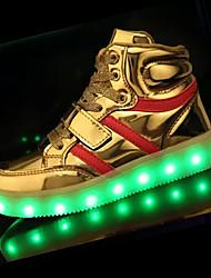 Tacón Plano-Confort-Zapatillas de deporte-Deporte-PU-Negro Marrón Rosa Blanco Plata Oro