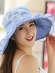 Chapeau de Paille Chapeau de soleil Eté Décontracté Dentelle Femme