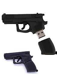16gb стильный пистолет памятью формы диска u кремния USB флэш-накопитель черный