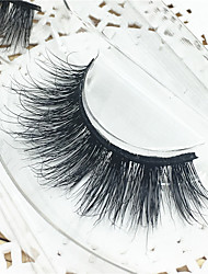 Eyelashes 3D mink Full Strip Lashes Eyes Thick Lifted lashes  Handmade Animal wool eyelash Black Band  M03