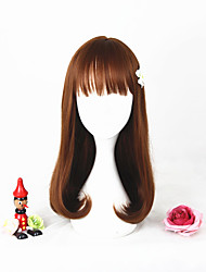 New Fashion 45cm Short Brown Girls Synthetic 18inch Anime Lolita Wig CS-292C