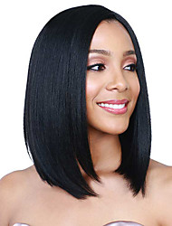 Cheap Short Black Color Synthetic Wigs For Nice Natural Looking Women Wigs
