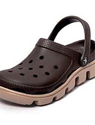 Men's Sandals Summer Comfort PVC Casual Flat Heel Brown Red Green Blue Blushing Pink