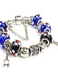 Women's Chain Bracelet Crystal Crystal Alloy Natural Friendship Fashion Round Blue Jewelry 1pc