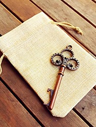 Vintage Skeleton Bottle Opener in Burlap Bag Beter Gifts® Rustic Wedding Favor