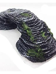 Décoration d'aquarium Roches Non toxique & Sans Goût résine Noir